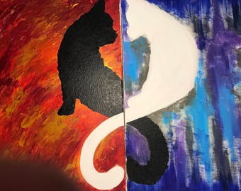 Custom Acrylic Cat Painting