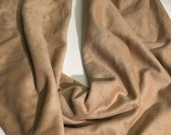 Infinity Scarf, Tan Ultra Suede