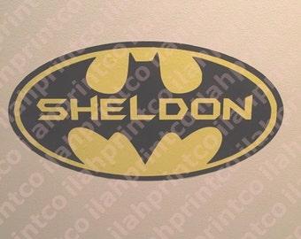Personalized Batman Logo Decal