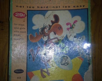 vintage 1960 Rocky and his Friends Whitman jigsaw puzzle