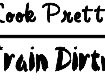 Look Pretty - Tain Dirty - Muscle Tank - Loose Fit Tank Top - Gym Tank Top - Workout Clothing - Athletic Wear - S - XXXL