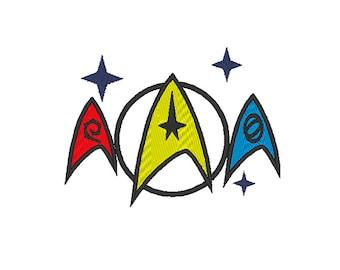 Star Trek badges embroidery design - Machine embroidery design