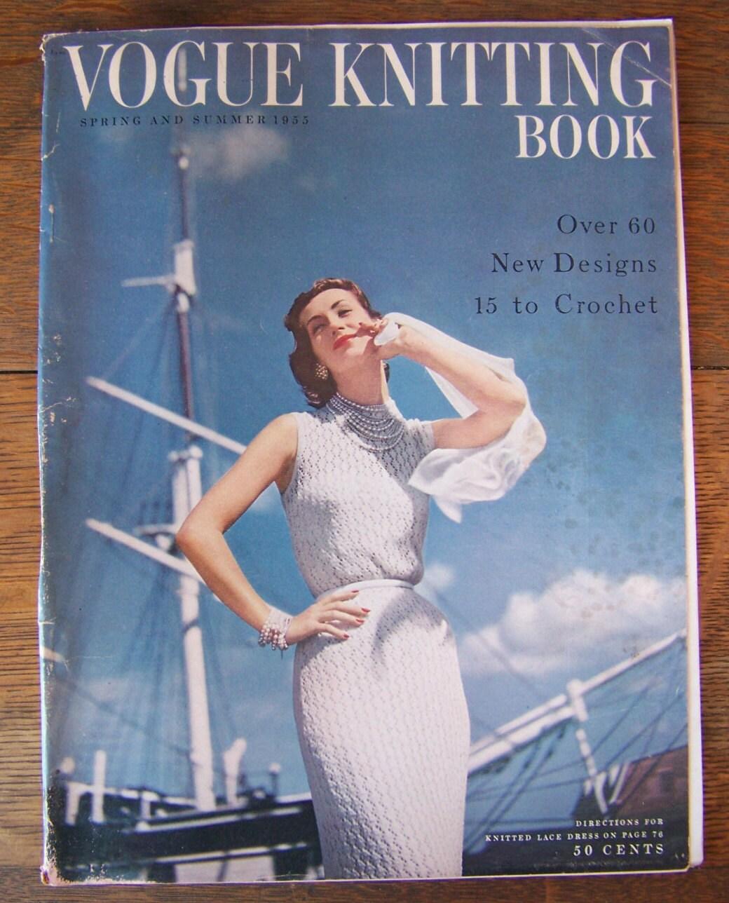 Vintage Vogue Knitting Book 1955 Spring and Summer.Vintage