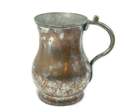 Antique Copper Tankard