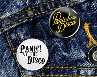 Panic at the Disco Punk Pop Pin Button Badge Set 2 x 25mm Badges or Individual