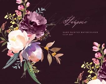 Hand Painted Watercolour Floral Arrangements - Harpine