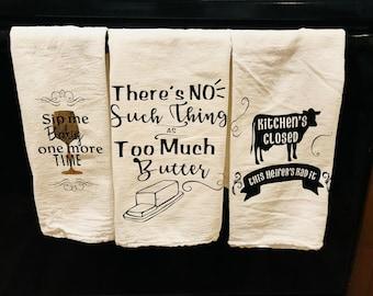 Cotton Flour sack kitchen tea towel