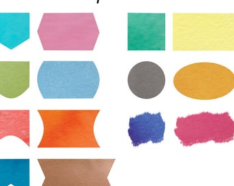 Custom Made Watercolour Printables - Cool colours