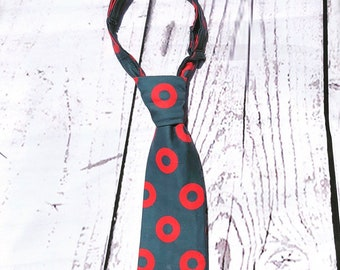 Fishman Donut Necktie for Babies, Toddlers, Kids, and Teens