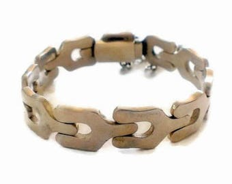 Modernist A. Belgiorno 900 Silver  Bracelet Signed