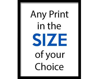 Single Print from a Set - Any Print in the Size of your Choice
