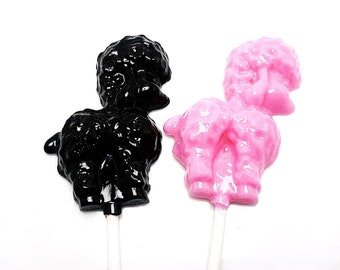 10 FRENCH POODLE lollipops -  Hard Candy