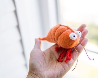 MR. SHRIMPY - catnip filled cat toy, cat toy, catnip toy, catnip shrimp, shrimp