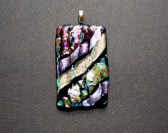 Dichroic Glass Pendant - Free Shipping