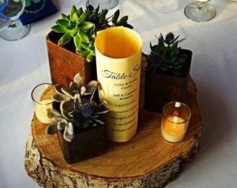 Metal Planter Pot - Succulent planter - Rustic wedding center piece - Flower Pot