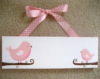 Birdie Name sign - 4x12 canvas
