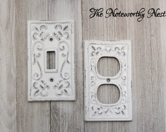 ANY COLOR Single Switchplate  / light switch covers / switchplate / custom switchplates / cast iron light covers / outlet cover / receptacle