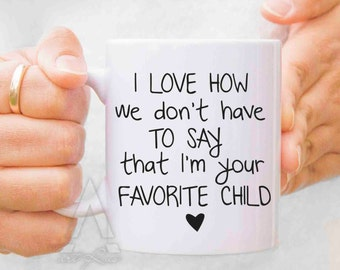 daughter to father gift, favorite child mug, fathers day gift from baby girl, gifts for dad, dad gifts from son, fathers day mugs, MU141