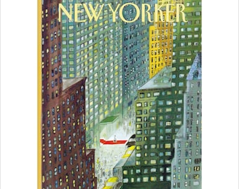 """Vintage The New Yorker Magazine Cover Poster Print Art, 1994 Matted to 11"""" x 14"""", Item 4015, Red Carpet"""