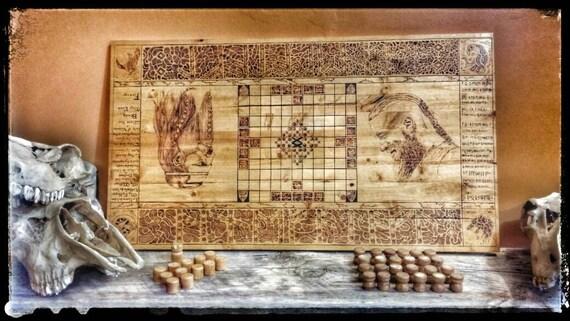 hnefatafl brettspiel wikinger spiel k nige tisch tafl. Black Bedroom Furniture Sets. Home Design Ideas