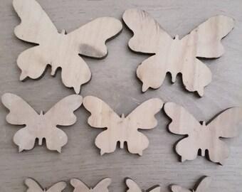 Wooden butterflies