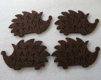 4 hedgehogs, felt, 8 x 5 cm (F10-0002BXXX)