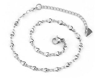 Steel Bracelet hearts Valentine's day