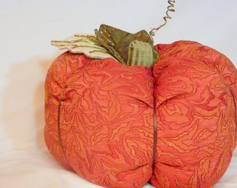 Cloth Pumpkin - Thanksgiving Table - Orange knit fabric - Stuffed Pumpkin - Party decoration - pumpkin - centerpiece - table decoration