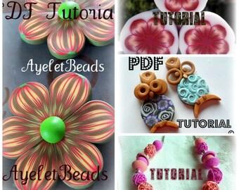 Special sale 4 polymer clay PDF  tutorials