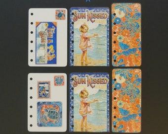 "Laminated accessory bundle  - Pocket size - ""Fun and sun"""