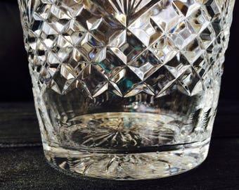 Gorgeous Wedgwood Majesty Crystal Ice Bucket; Vintage Barware; Crystal Barware; Holiday Table