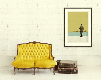 DYLAN IN SEATTLE - Inspired Bob Dylan 20 x 30 Handprinted Silkscreen Art Print, Modern Poster, Boutique, Retro Home
