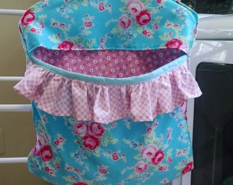 Clothespin Bag/Ruffle Clothespin Bag/Peg Bag/Natural Clothes Drying/Green Dryer/Blue Pink Peg Bag