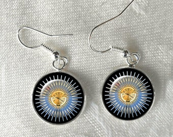 Atomic Starburst Clock Earrings ~ MCM ~ Gifts for Her ~Mad Men ~ Minimalist ~ 16mm