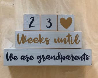Grandparents Countdown Blocks