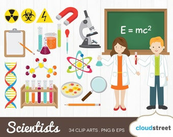 BUY 2 GET 1 FREE mad Scientist clipart / vector mad scientist clip art / science clipart / lab clipart / science clip art /commercial use ok