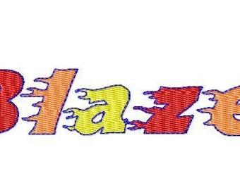 Blaze Fire Hot Embroidery design Font, fire Monogram