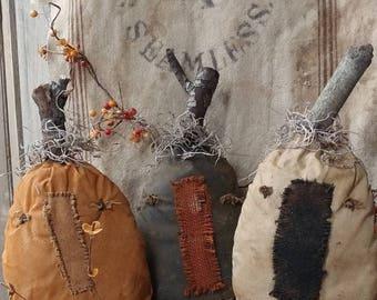 Primitive Sad pumpkins Forgotten pumpkins Fall Faap Hafair Haha Folk art