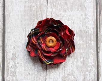 Custom Tartan Hair Flower - Choose Your Tartan! (Most Tartans Available) Wedding Favour. Scottish Wedding. Scottish Bride. Scottish Gift.