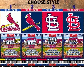 Cardinals invitation etsy - St louis cardinals downloadable schedule ...