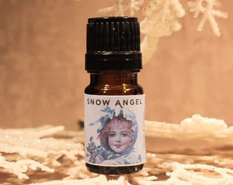 SNOW ANGEL Artisan Perfume Oil, Icy Perfume Oil, Snow Fragrance, Winter Perfume, Handmade Perfume Oil