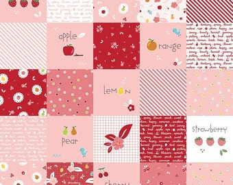 Sweet Orchard Main Pink yardage by Down Grapevine Lane for Riley Blake