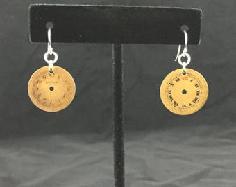 Vintage Watch Face Earrings
