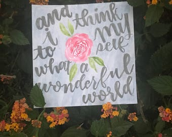 Louis Armstrong What a Wonderful World watercolor painting