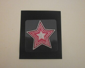 sticker and fusible applique star
