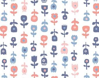 De Roos Licht- In Blue by Katarina Roccella- Art Gallery Fabrics