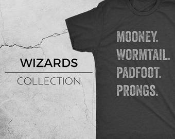 MESSRS - Harry Potter Inspired T-Shirt, Mooney, Wormtail, Padfoot, Prongs, Mischief Managed, Hogwarts, Harry Potter shirt, Geek Shirt, Novel