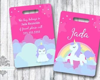 Luggage Tag | Personalized Bag/Luggage Tag | Kids Backpack Tag | Diaper Bag Tag | Custom Bag Tag | Travel Accessory | Unicorn Bag Tag