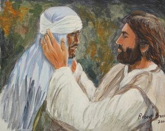 Jesus Heals The Blind Boy