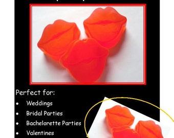 20 Lip Soap Favors: Wedding Favors, Bridal Shower, Birthday Favors, Lip Wedding Favors, Rustic Wedding, Large Lip Soaps